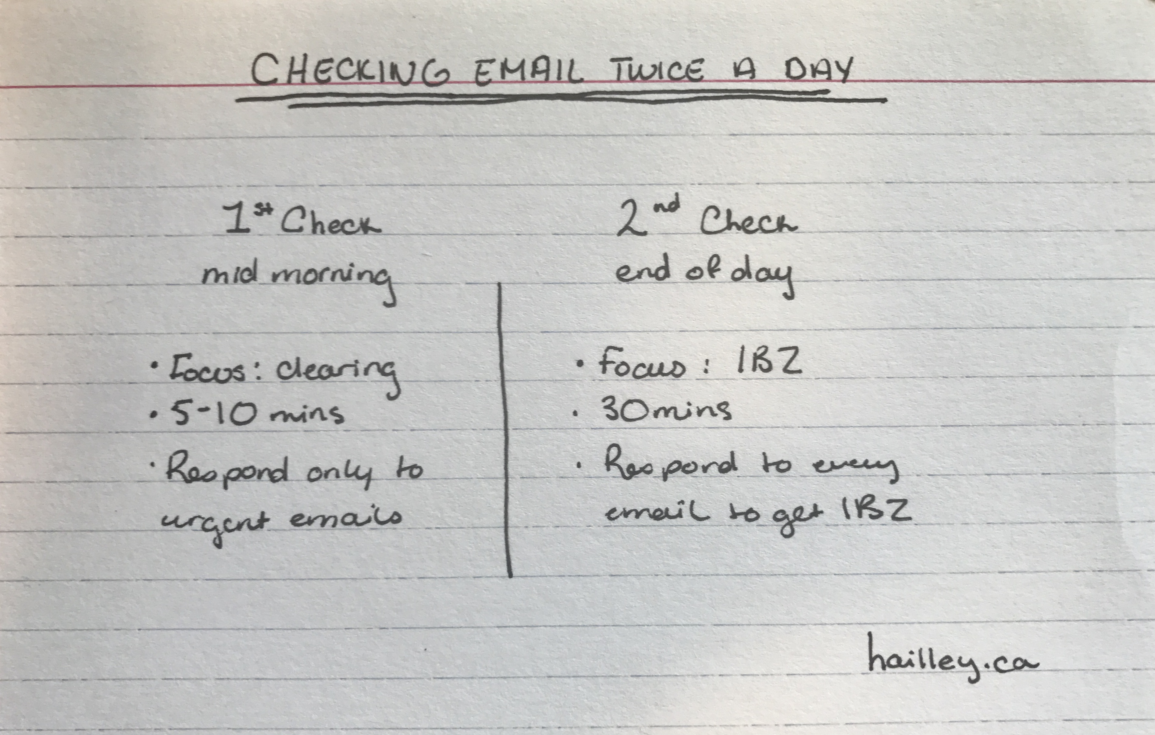 email system check twice a day hailley griffis